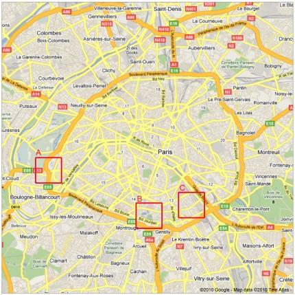 Pianta Parigi